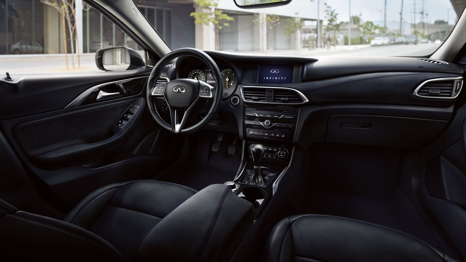 2016 Infiniti Q30 Active Compact Interior | Black Leather