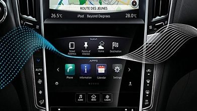Car Touch Screen Interior Closeup