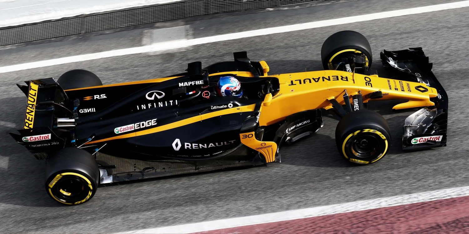 Overview of the Renault R.S.17 Renault Sport Formula One Car on Track