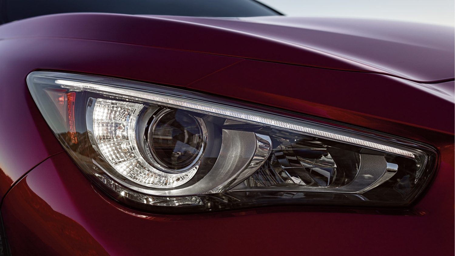 2018 INFINITI Q50 Red Sport Sedan Design | Illuminating LED Headlights