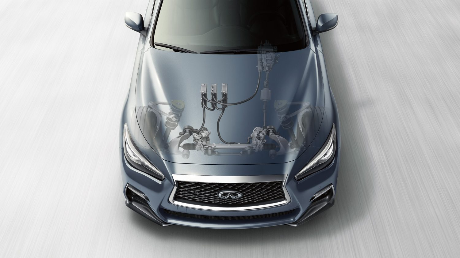 2018 INFINITI Q50 Red Sport Sedan Performance | Direct Adaptive Steering System