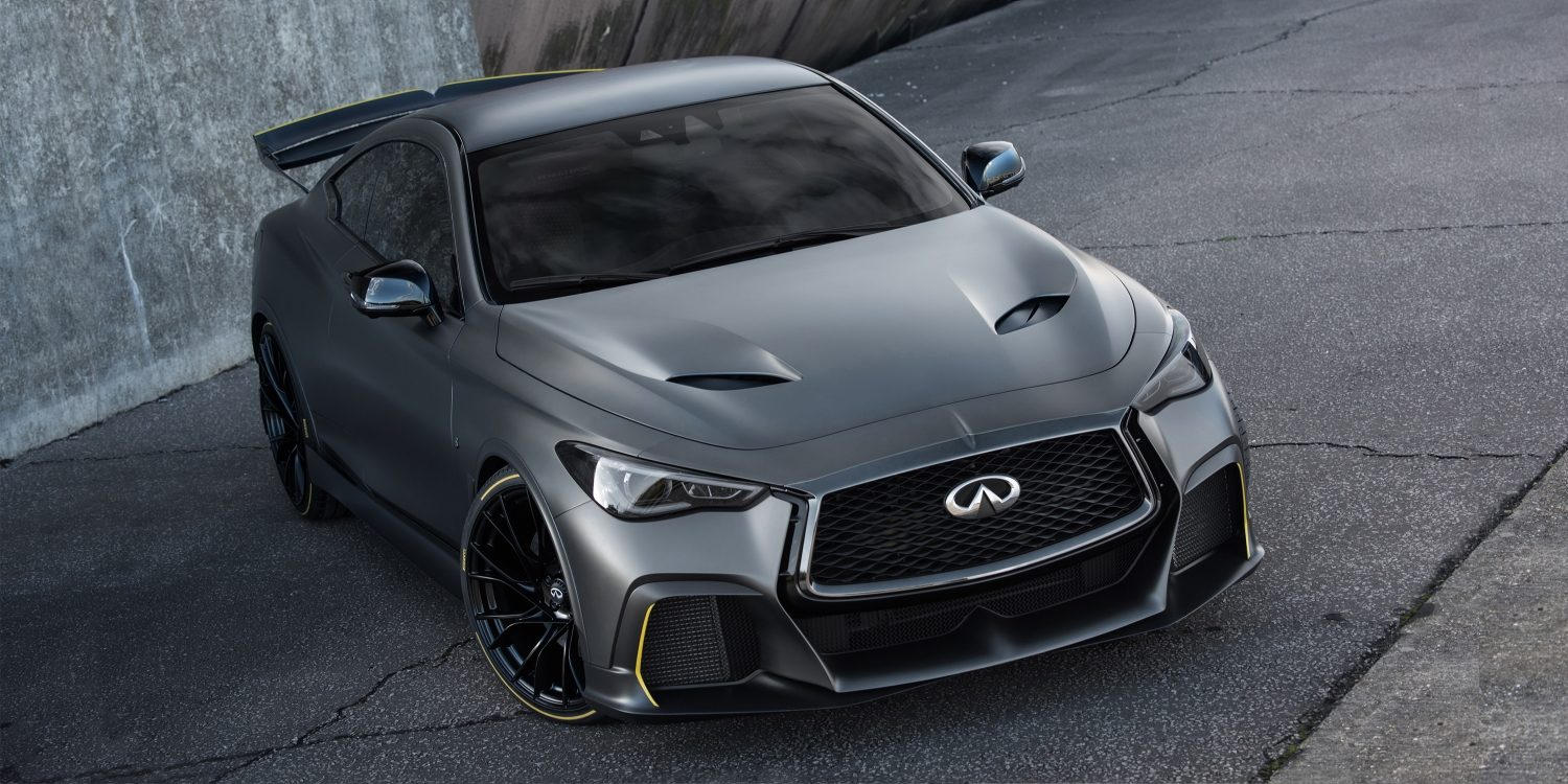 INFINITI Black S vehicle features a high-performance aesthetic inspired by F1? technologies