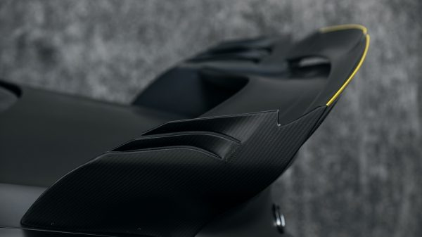 INFINITI Project Black S vehicle rear wings made of aero-efficient carbon fiber