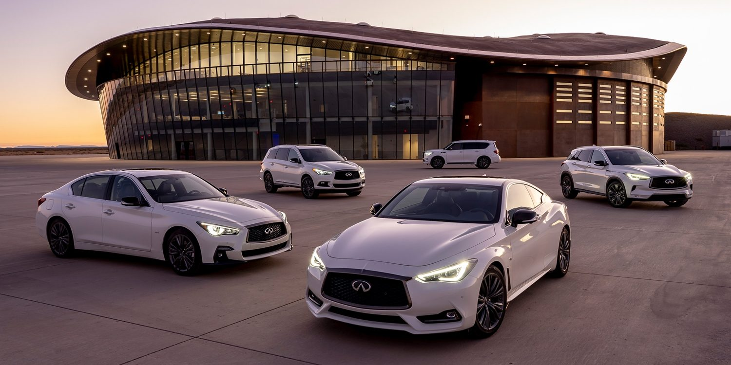 2019 INFINITI Spaceport Event Venue With Vehicle Lineup