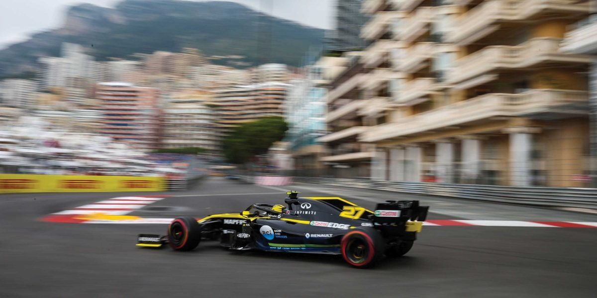 INFINITI and Renault F1 Team car on track at Monaco GP 2019
