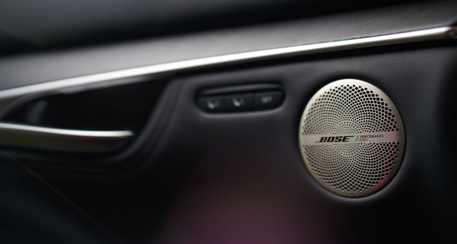 one of 16 Bose performance series speakers in the 2022 INFINITI QX55 crossover