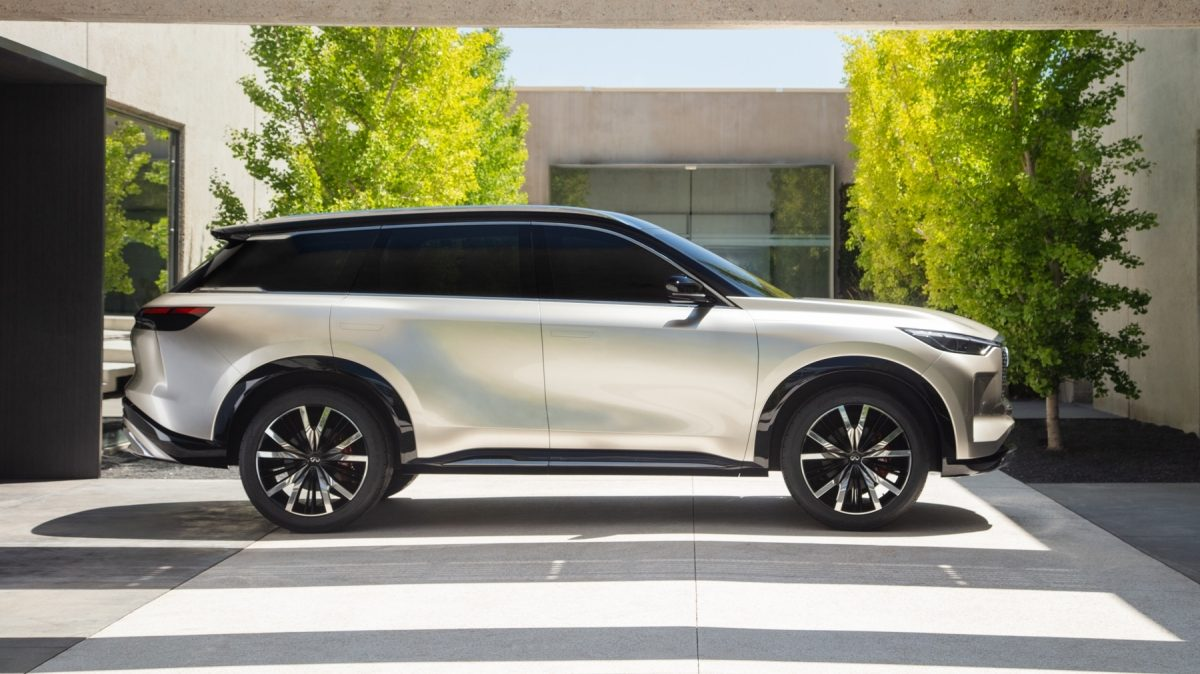 Side profile of the INFINITI QX60 Monograph crossover