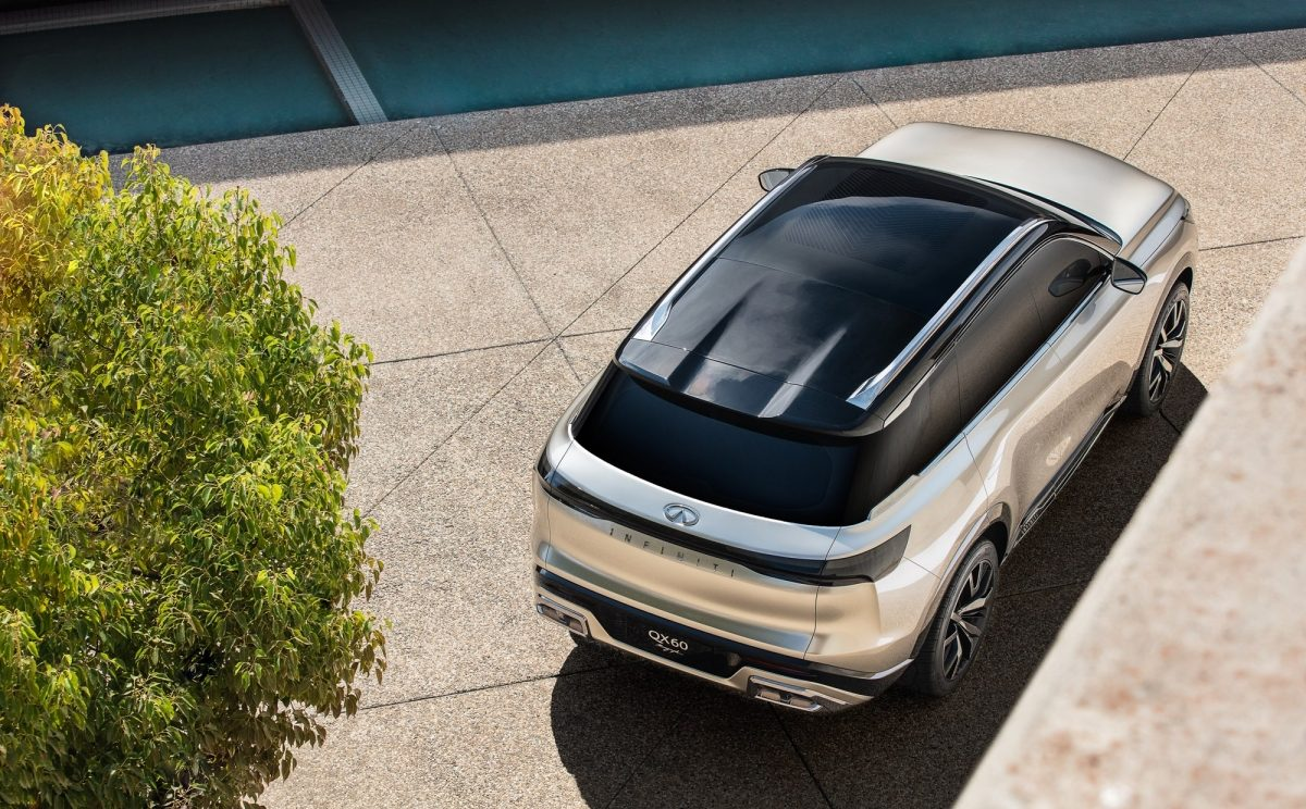 Top view of the INFINITI QX60 Monograph