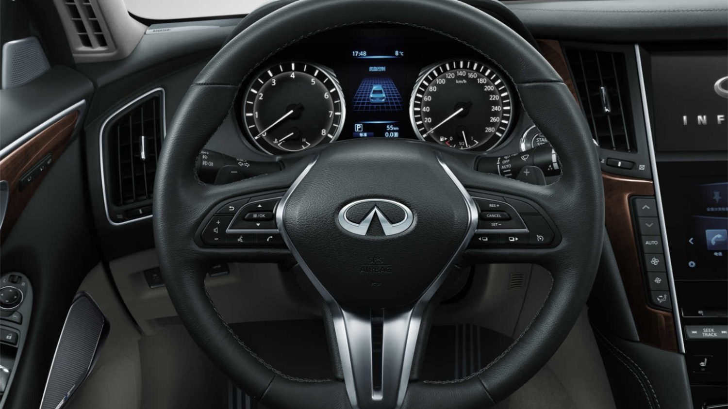 2018 INFINITI Q50 Red Sport Sedan Design Gallery | Steering Wheel  Controls