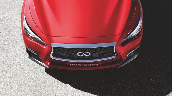 2018 INFINITI Q50 Red Sport Sedan Design | Signature Double Arch Grille