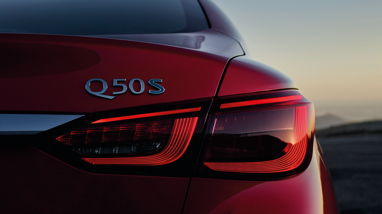 2018 INFINITI Q50 Red Sport Sedan Design | Enhanced LED Taillights