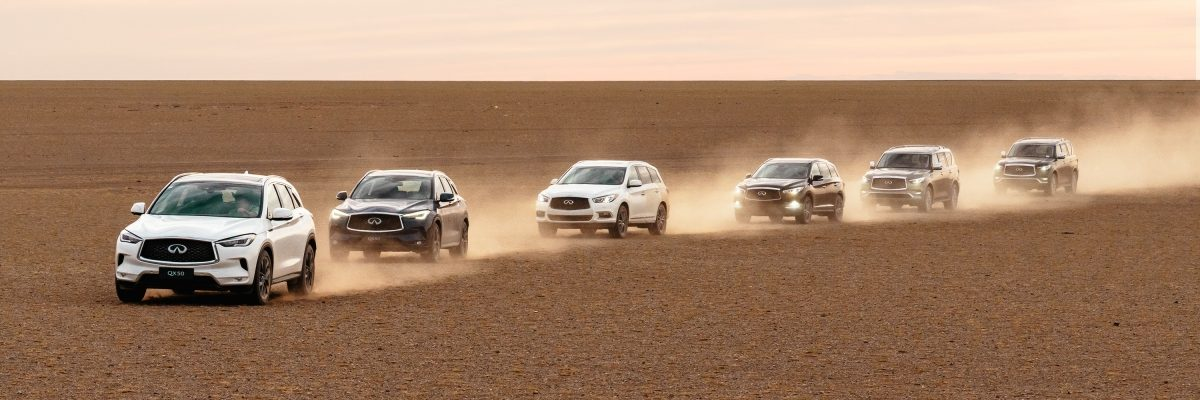 INFINITI QX Series Gobi Desert exploration project