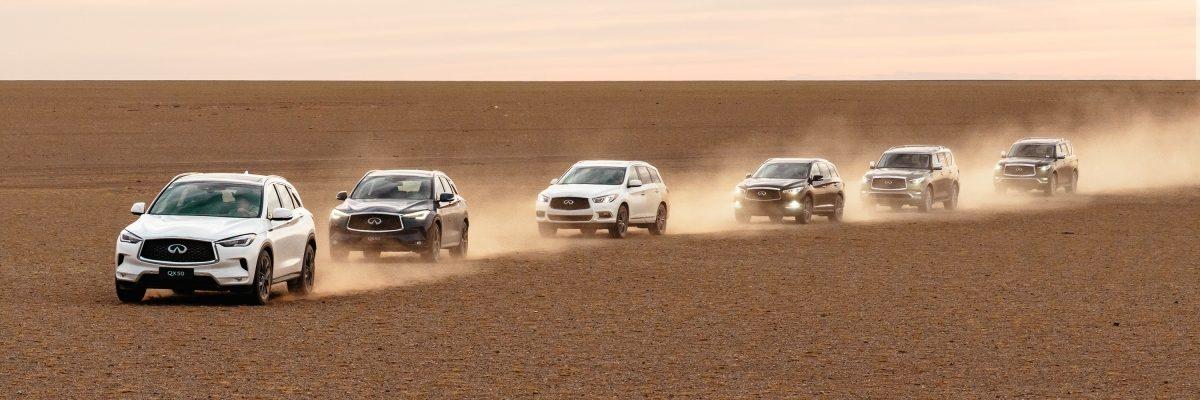 INFINITI QX Series Gobi Desert exploration project