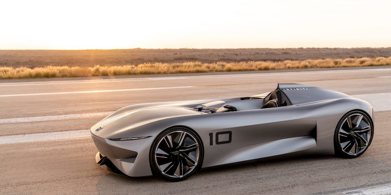 INFINITI Prototype 10 Concept Car On A Runway