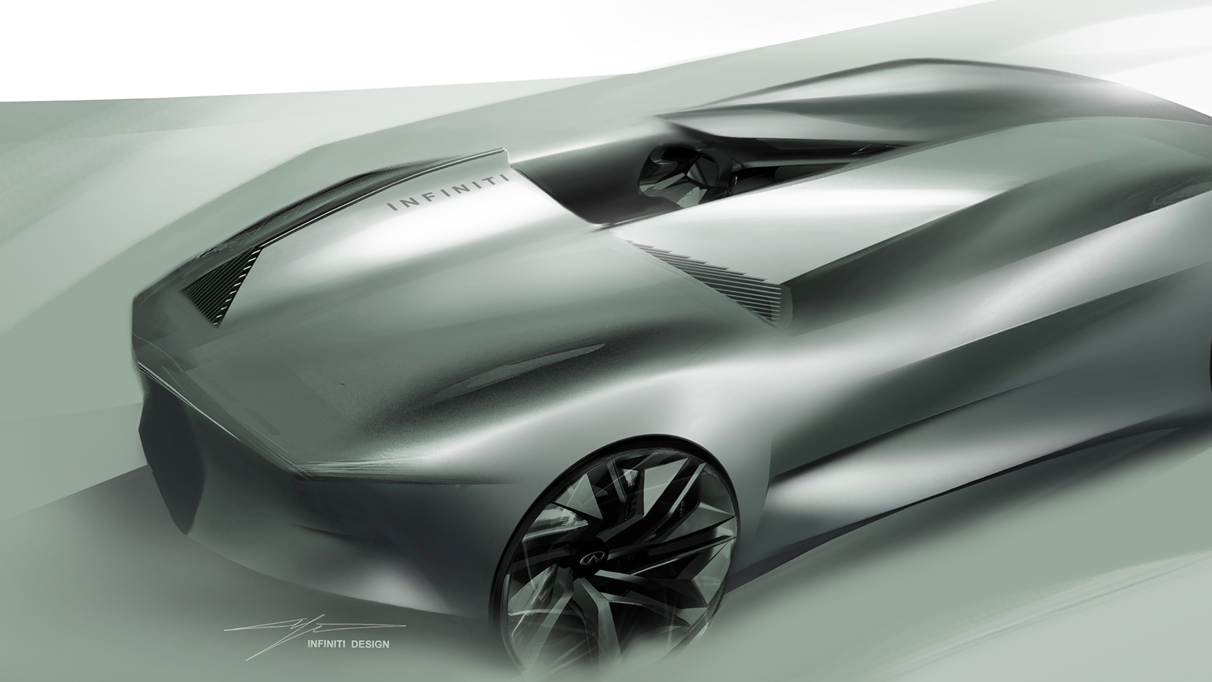 Infiniti Prototype 10 Concept Car Design Silhouet Overview