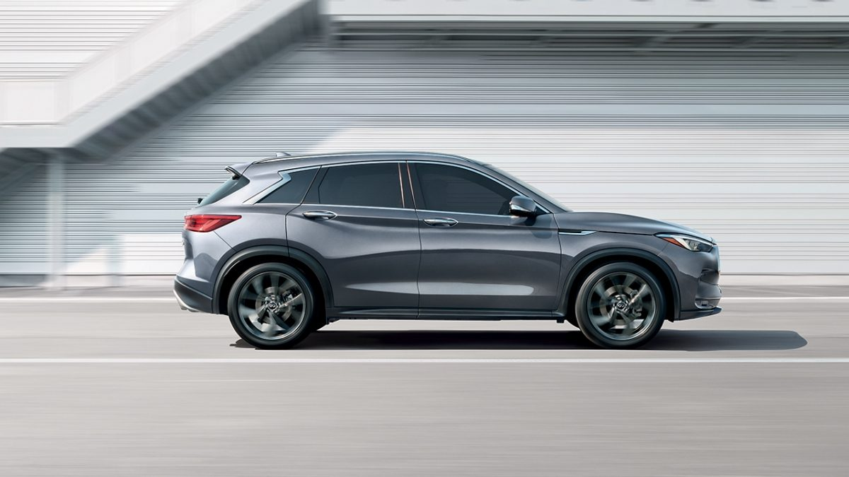 Infiniti QX50 being driven side view