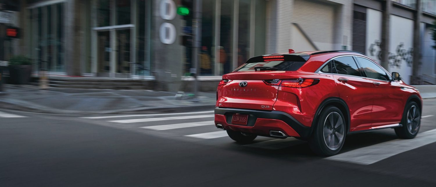 View of Red 2022 INFINITI QX55 Crossover Coupe