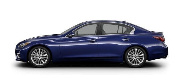 Side profile of the 2021 INFINITI Q50
