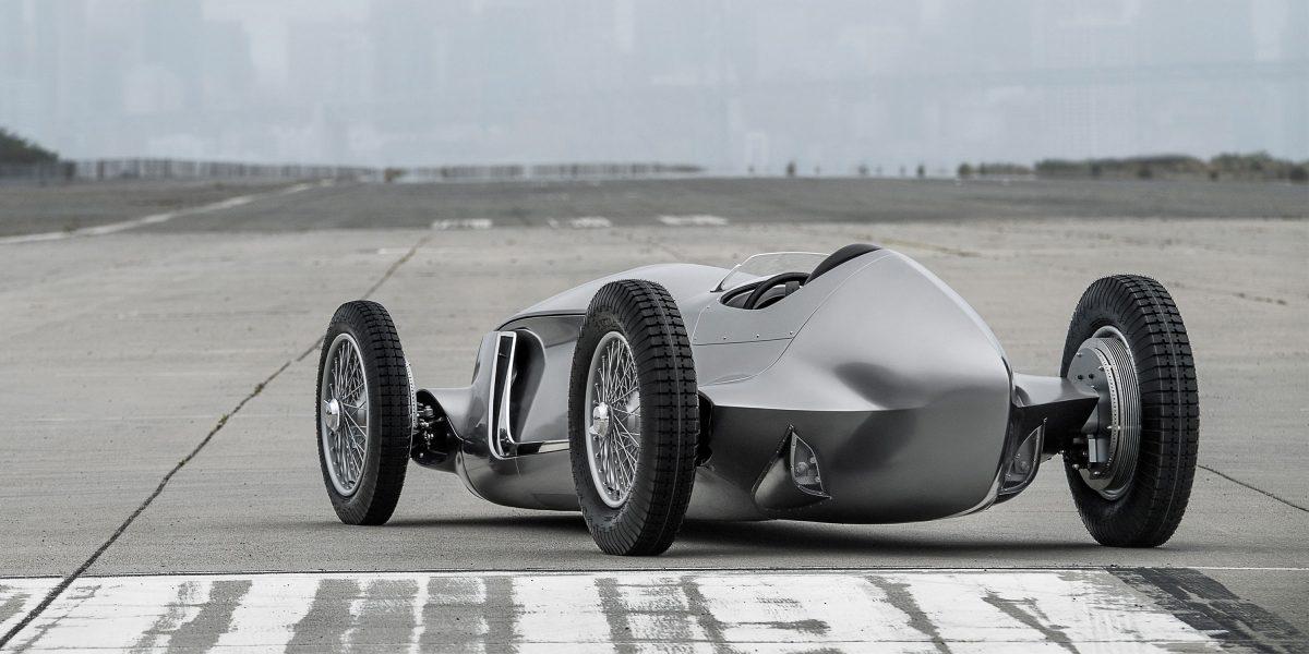 Rear Side Profile Design   INFINITI Prototype 9 e-roadster