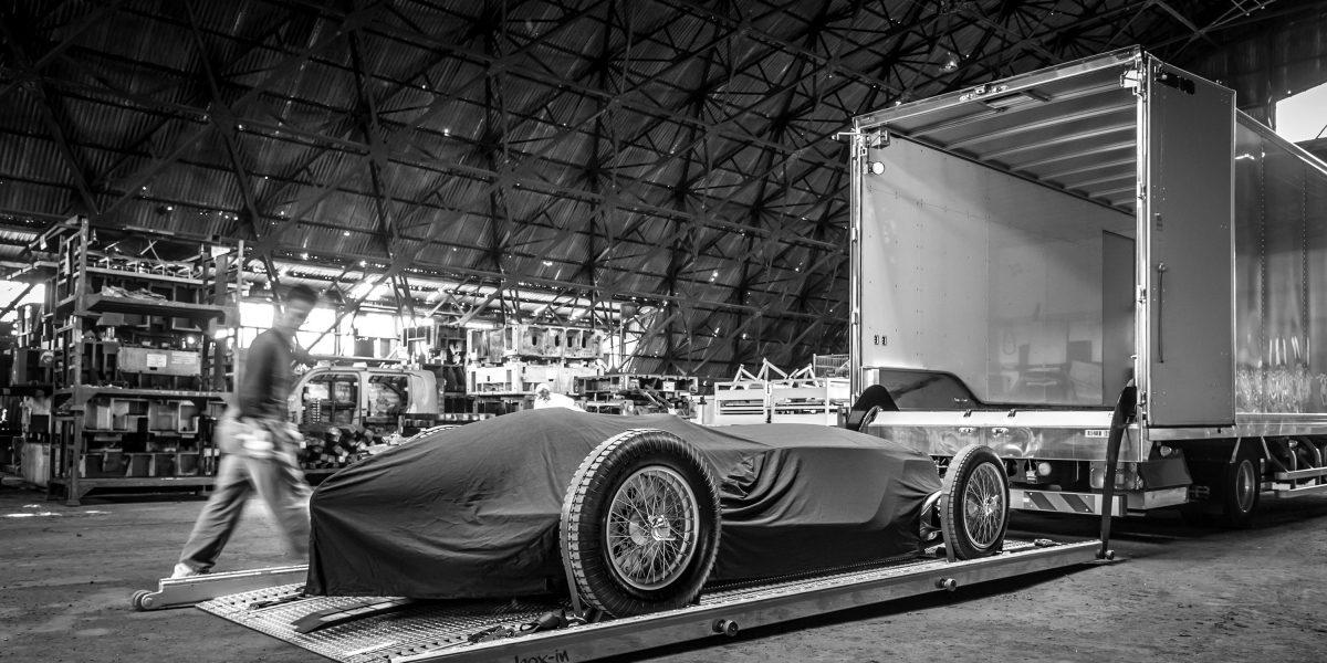 Enroute to the 2017 Pebble Beach Concour d'Elegance in Monterey, California   INFINITI Prototype 9 e-roadster