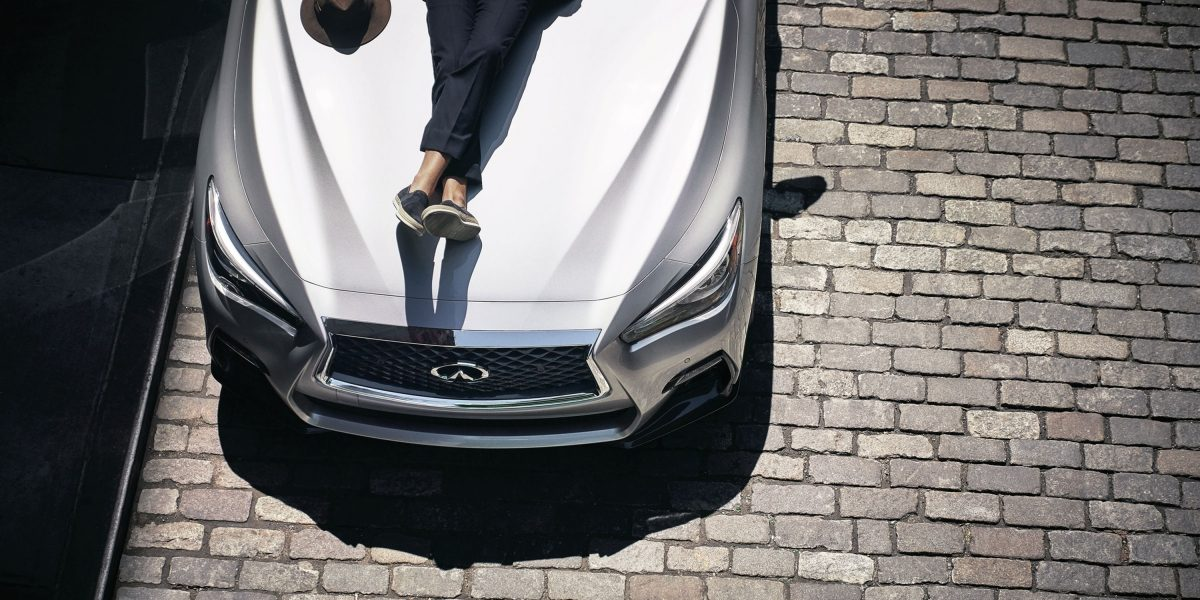 2020 INFINITI Q50 Sport Sedan Design Front Hood Viewed From Above