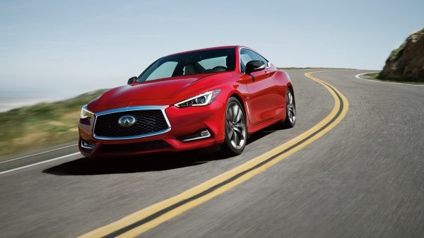 2018 Infiniti Q60 Red Sport 400 Sports Coupe Aggressive Body Creases And Deep Curves
