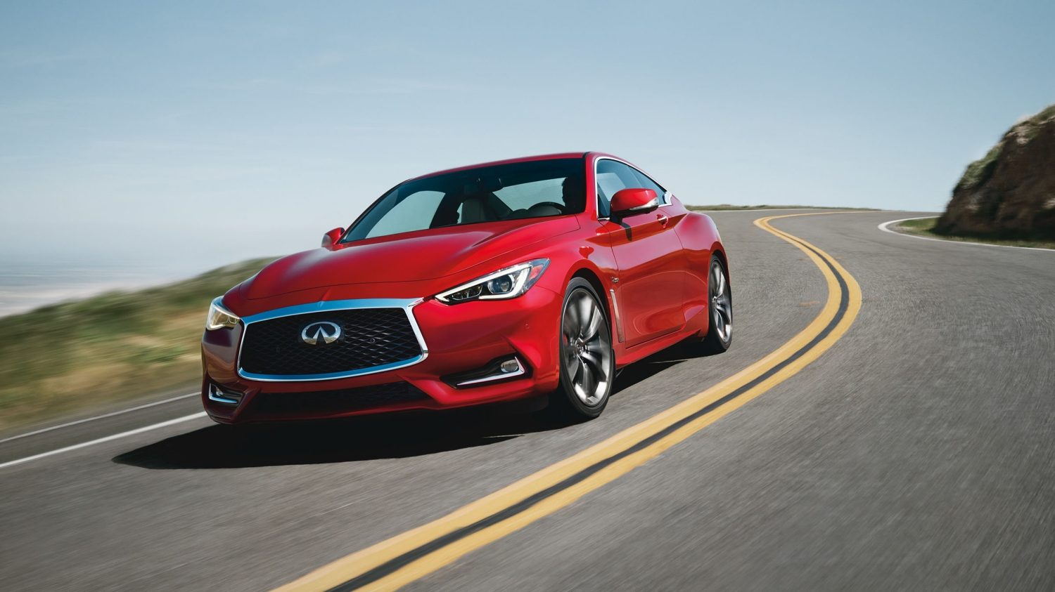 2018 INFINITI Q60 Red Sport 400 Sports Coupe | Aggressive Body Creases and Deep Curves