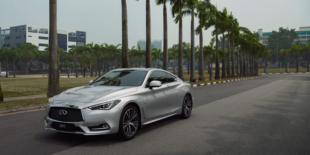 2020 Infiniti Q60 Coupe Design Car On The Road Side View