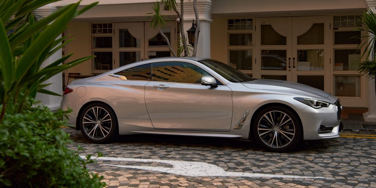 2020 INFINITI Q60 Red Sport 400 Sports Coupe Design Side Profile