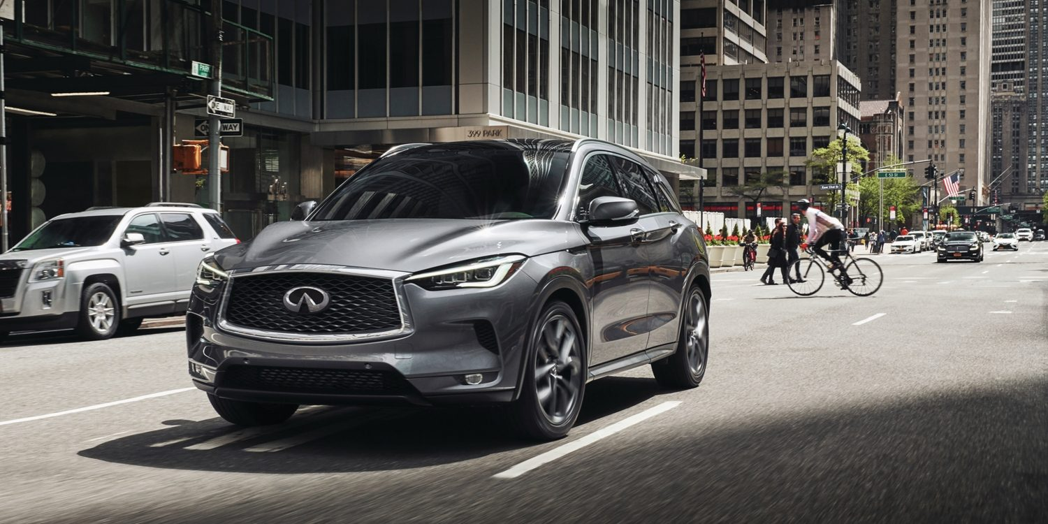 2020 INFINITI QX50 Luxury Crossover On An Urban Road