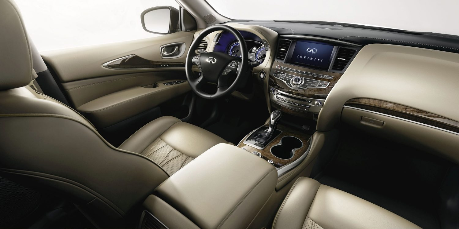 2018 INFINITI QX60 Crossover interior in Wheat Leather