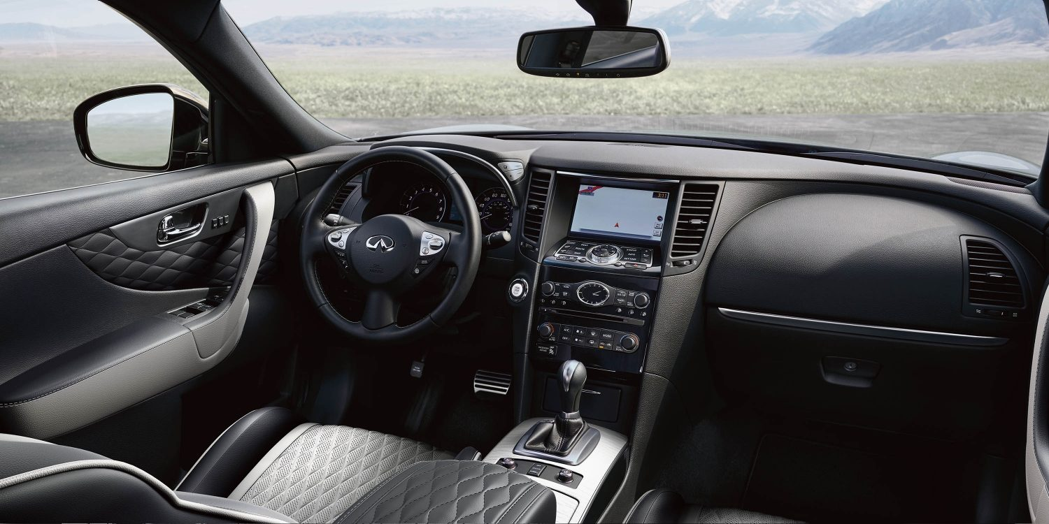 2018 INFINITI QX70 Leather Interior Details