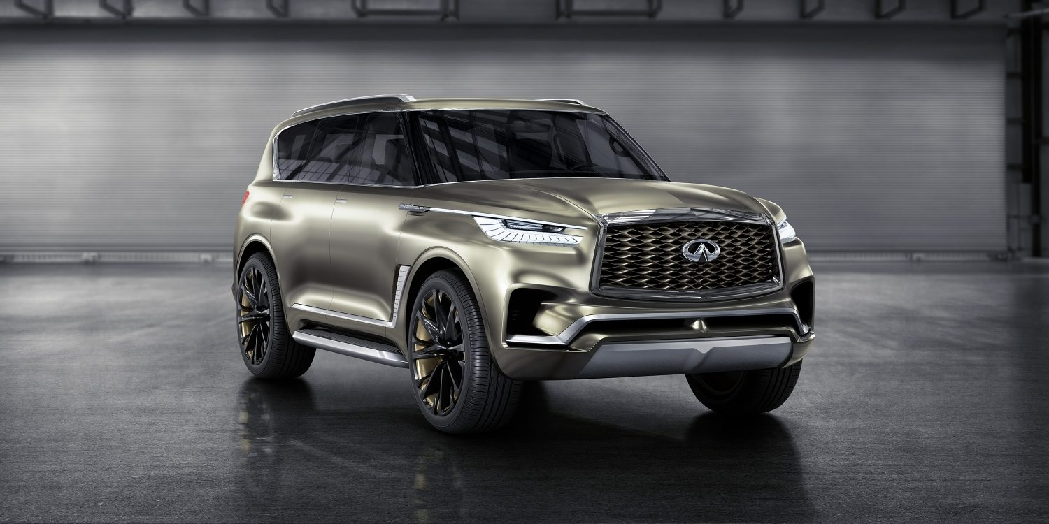 Front Passenger Side View of the INFINITI QX80 Monograph Luxury SUV Concept