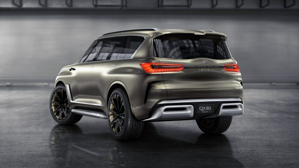 Driver's Side Rear View of the INFINITI QX80 Monograph Luxury SUV Concept