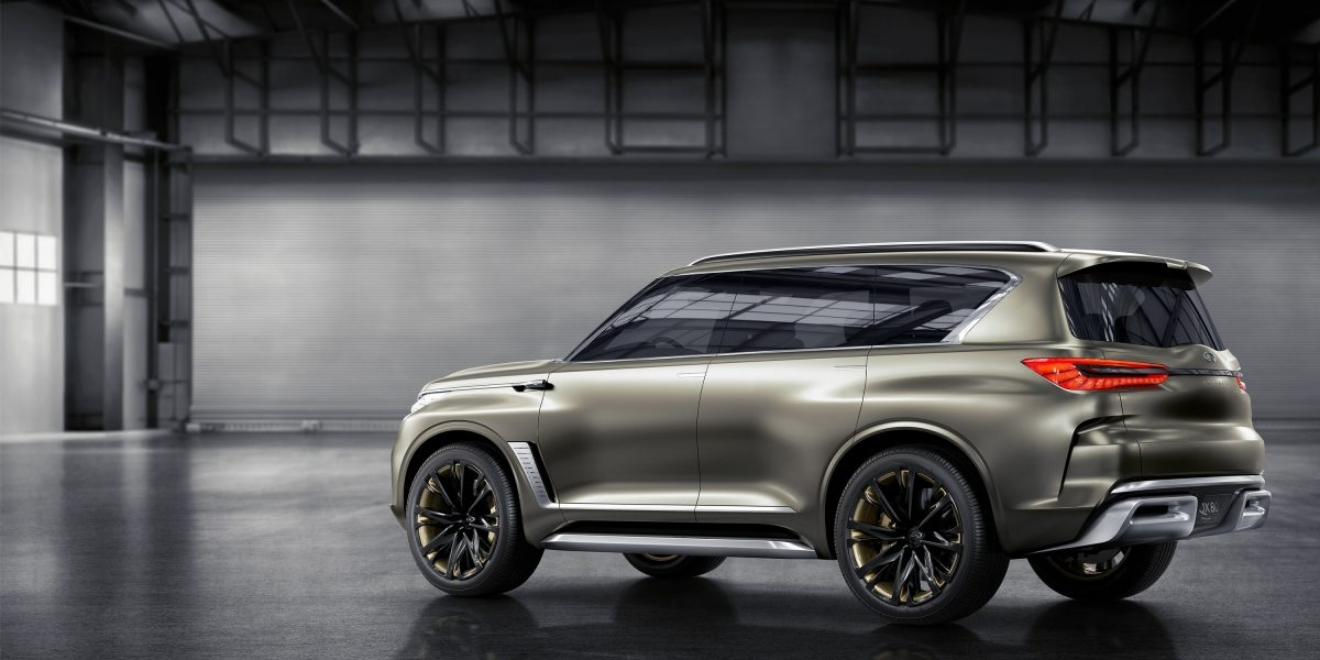 Rear Driver's Side View of the INFINITI QX80 Monograph Luxury SUV Concept