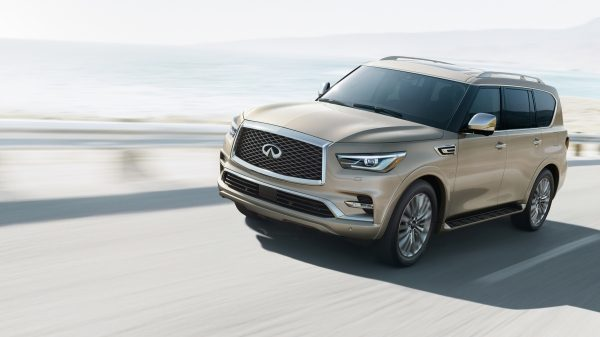 INFINITI QX80 on the road