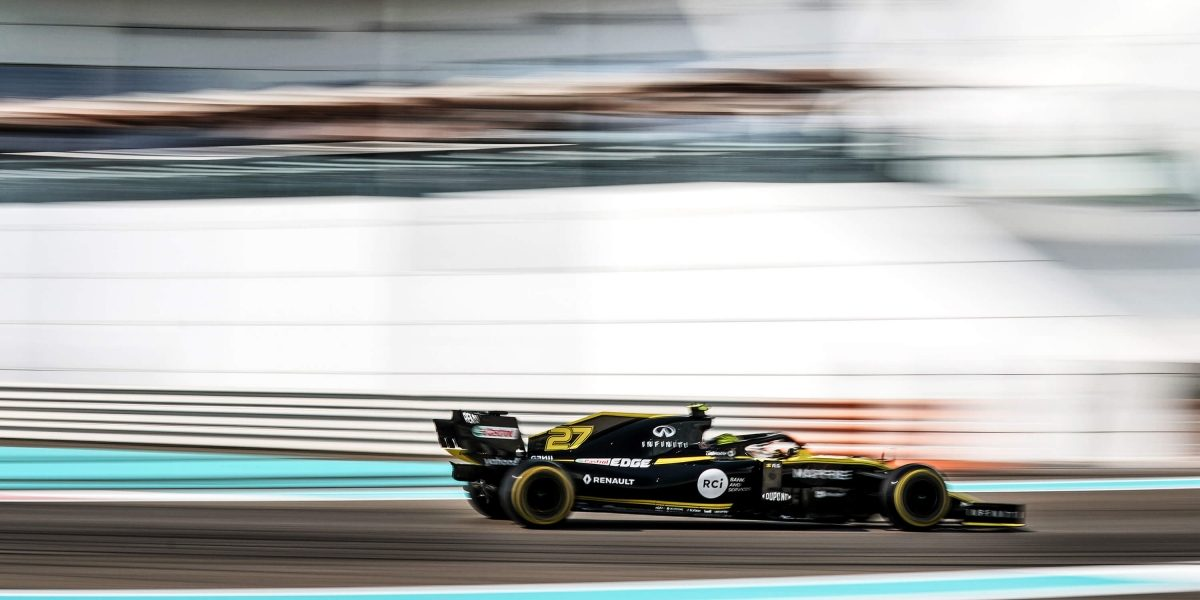 INFINITI and Renault Formula One Team Grand Prix Abu Dhabi Driving On Yas Marina Circuit