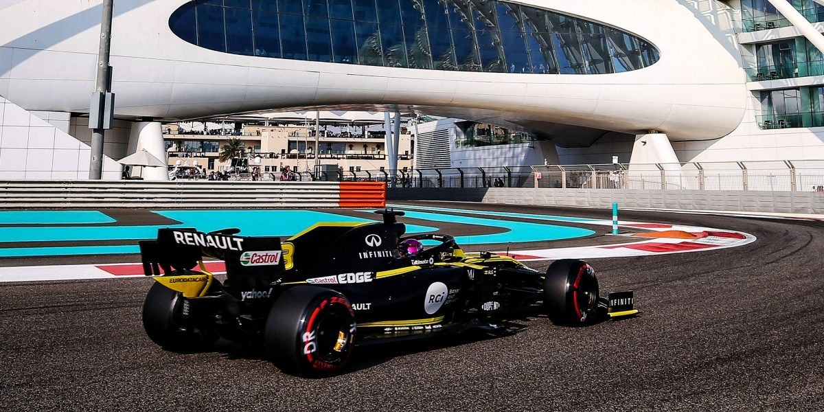 INFINITI and Renault Team Formula One Grand Prix Abu Dhabi On Yas Marina Circuit