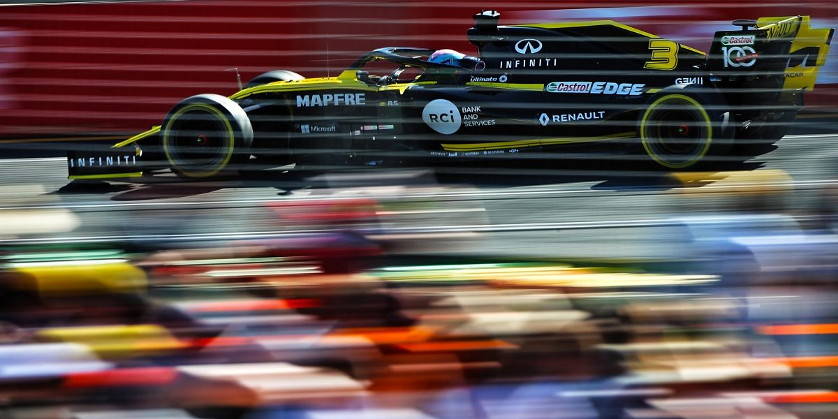 INFINITI and Renault Sport Formula 1 Racing At High Speed